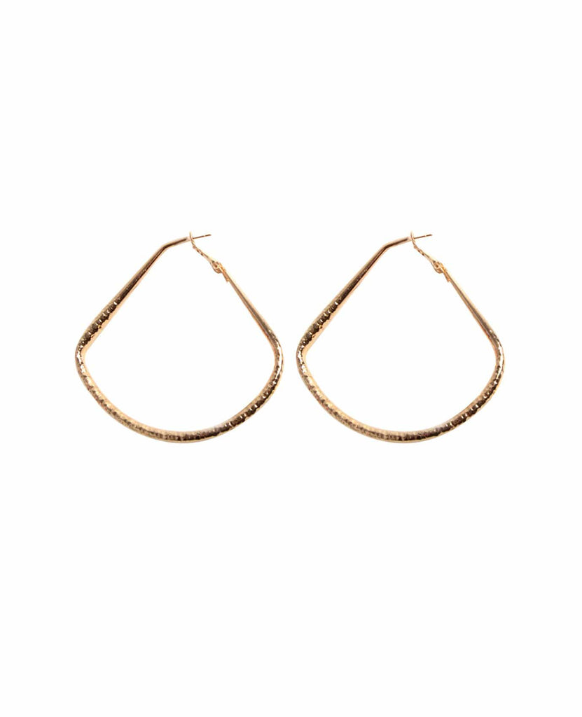 Fan Shape Hoop Earrings