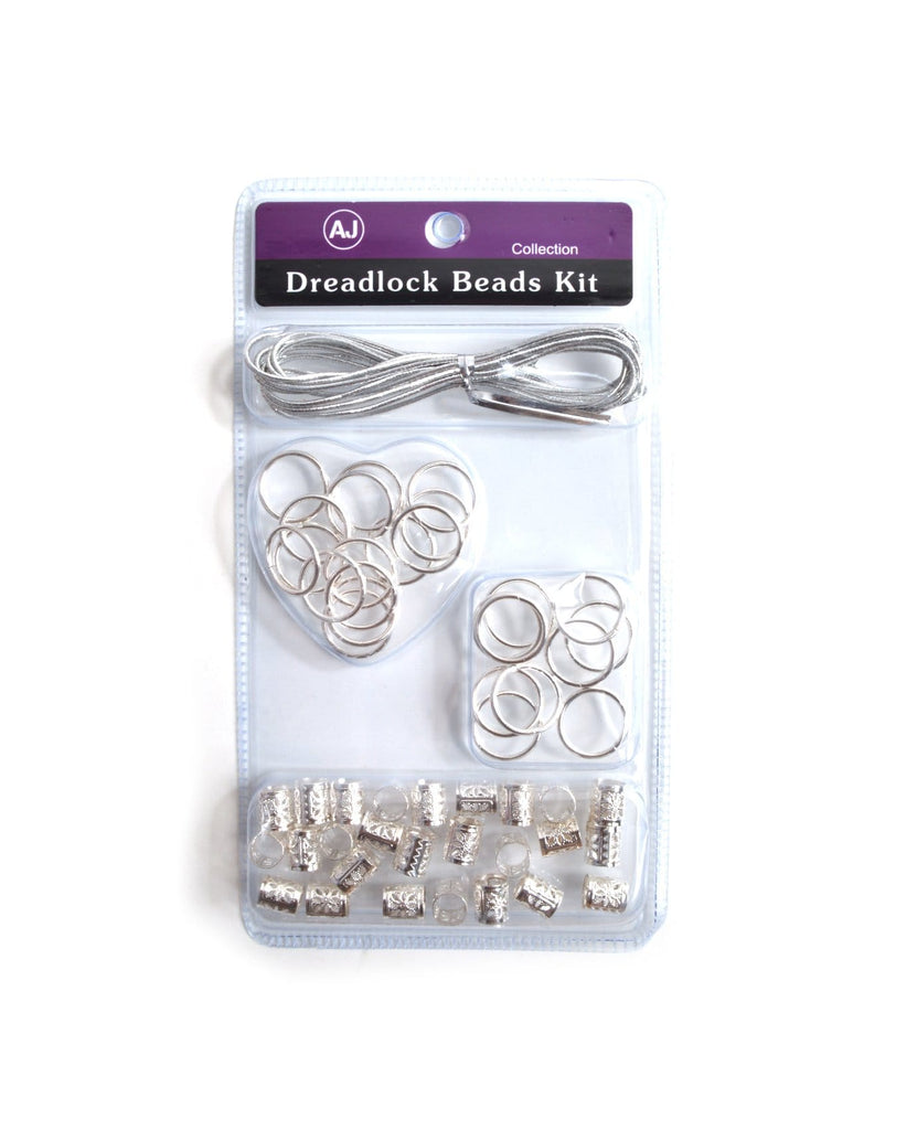 All in Silver Dreadlock Beads Kit