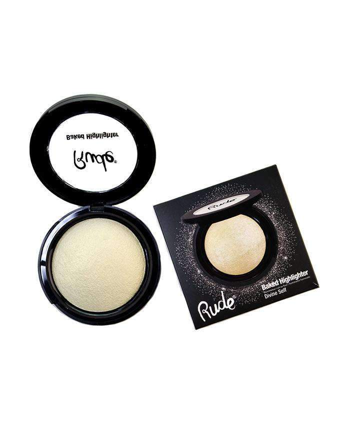 Rude Baked Highlighter- Divine Self, COSMETIC