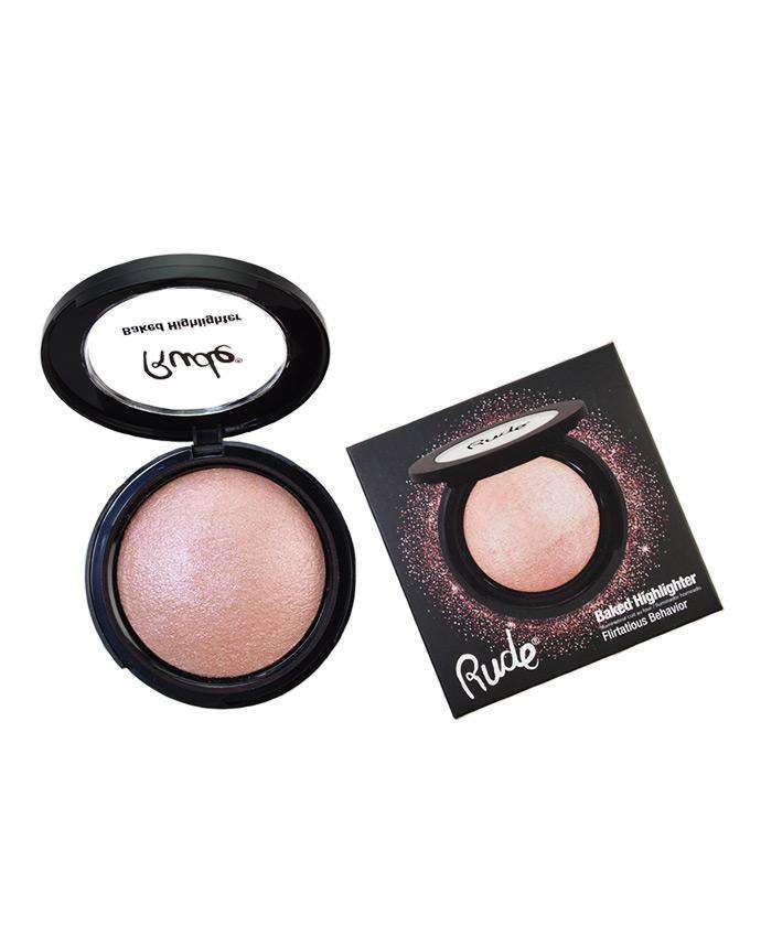 Rude Baked Highlighter- Flirtatious Behavior, COSMETIC