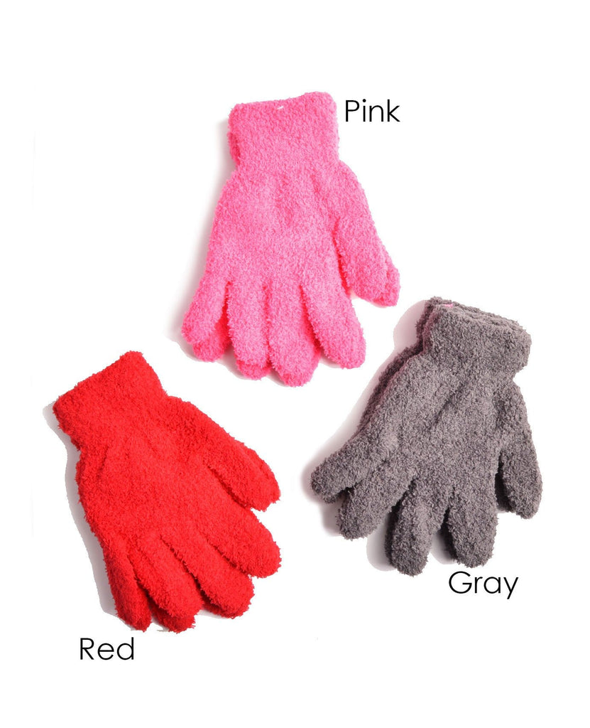 Fashion Fuzzy Kids Gloves