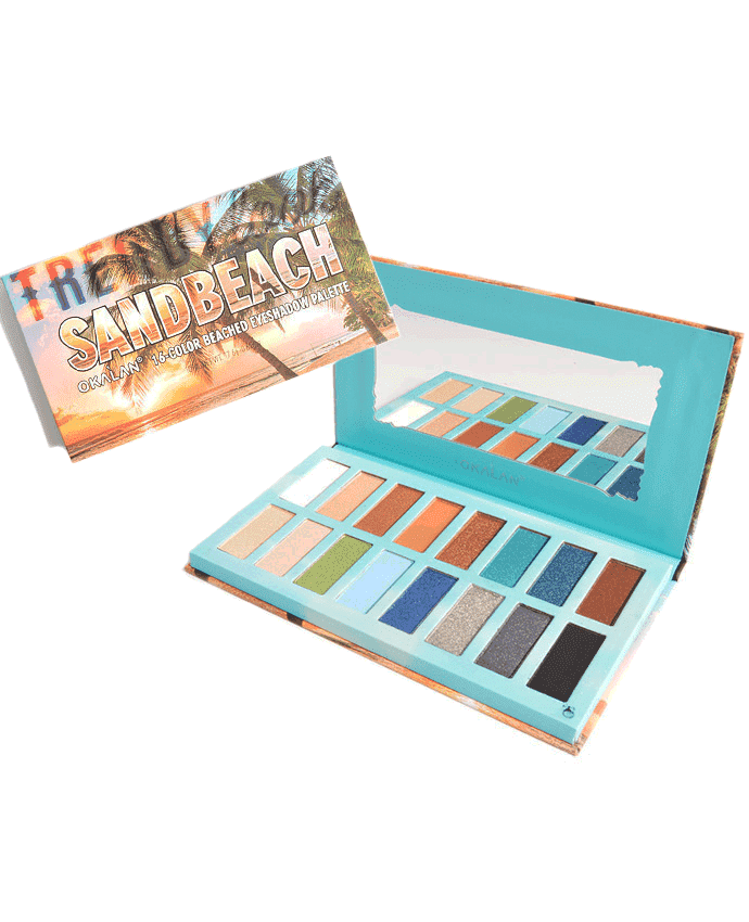 Okalan Sandbeach 16-Color Beached Eyeshadow Palette