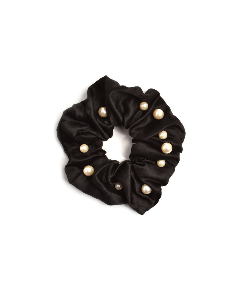 Satin and Pearl Scrunchies