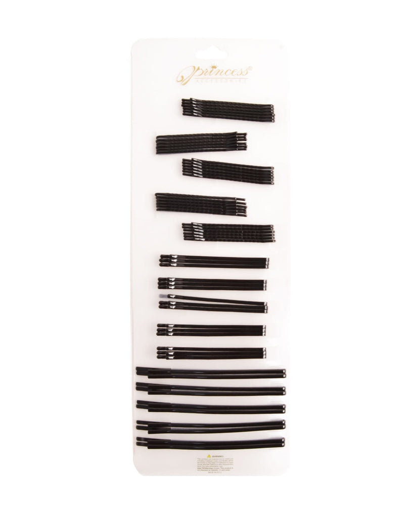 Bobby Pins Black Set - 55 pieces