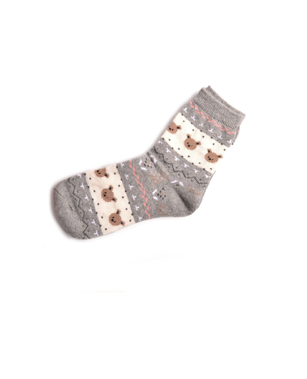 Little Bear Winter Socks