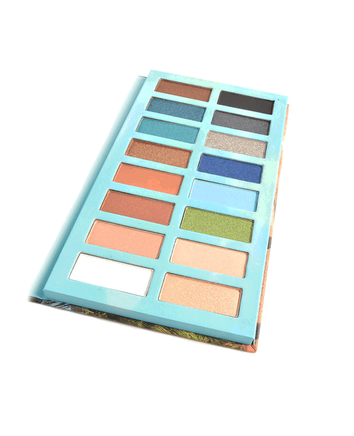Okalan Sandbeach 16-Color Beached Eyeshadow Palette, COSMETIC