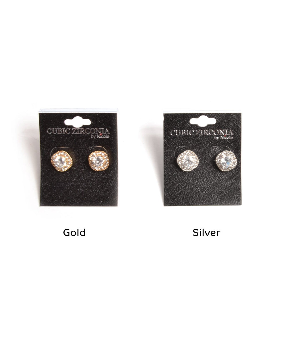 Gleaming Cubic Zirconia Studs