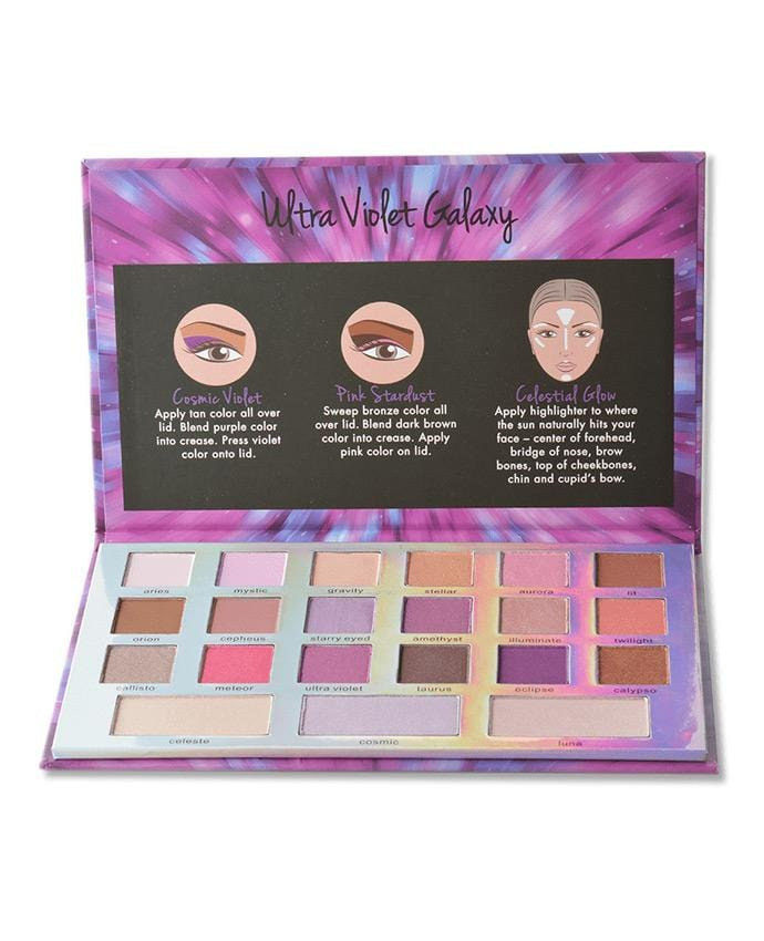 Beauty Treats Ultra Violet - 18 Shade Eyeshadow & Contour Palette