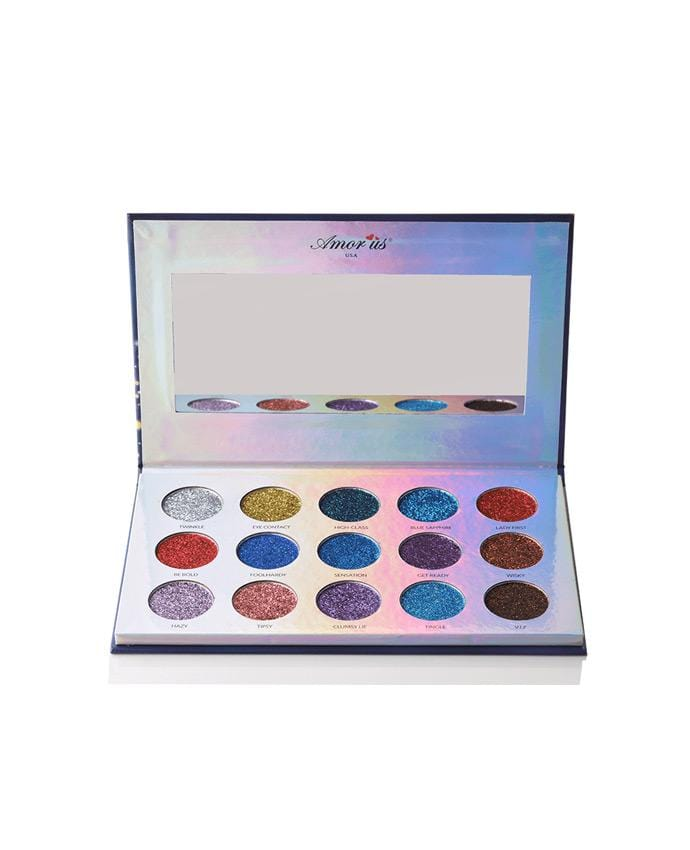 Amor Us Masquerade - 15 Shade Body & Face Glitter Palette, COSMETIC