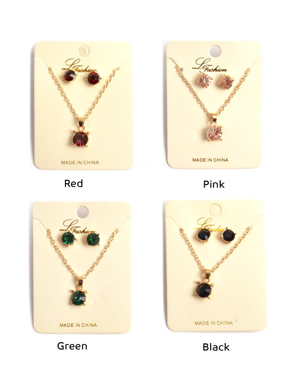 Precious Gemstone Necklace Set