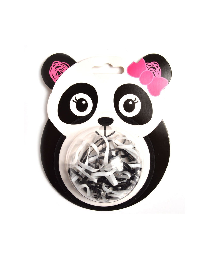 Mini Panda elastic hair ties