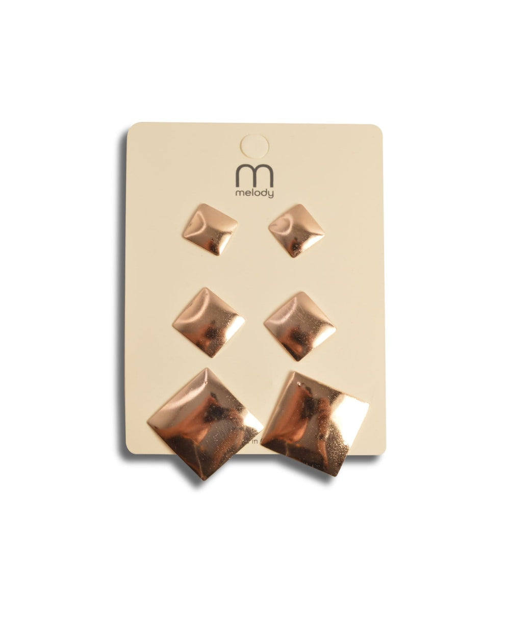Squares Shape Earrings Set