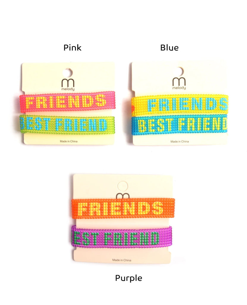 "Plastic Bracelets  ""Best friend"""