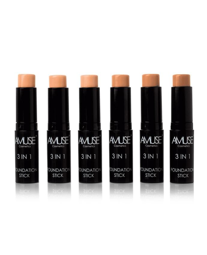 Amuse 3 in 1 Foundation Stick, COSMETIC