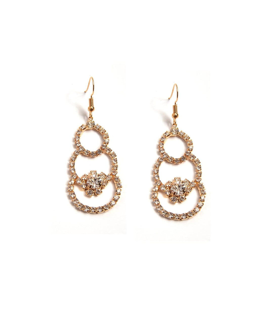 Triple Circle Elegant Earrings