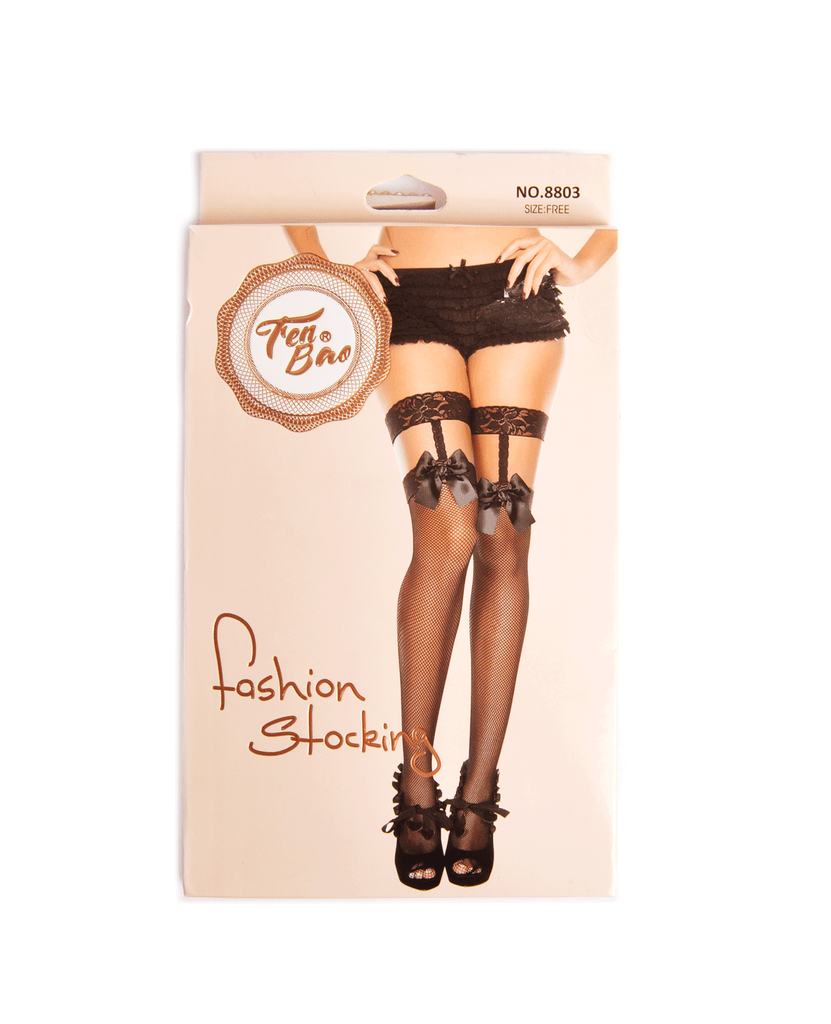 Fen Bao Flirtatious Bows Fishnet Stockings, EVES