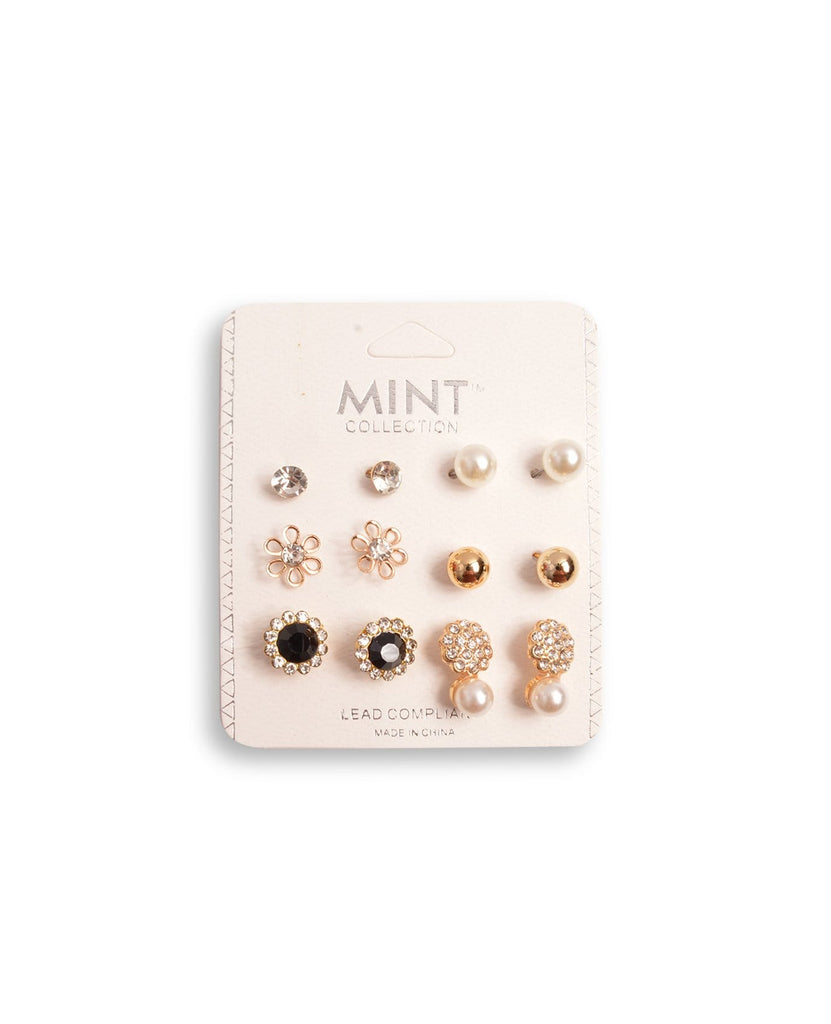 Tiny Flower Earring Set