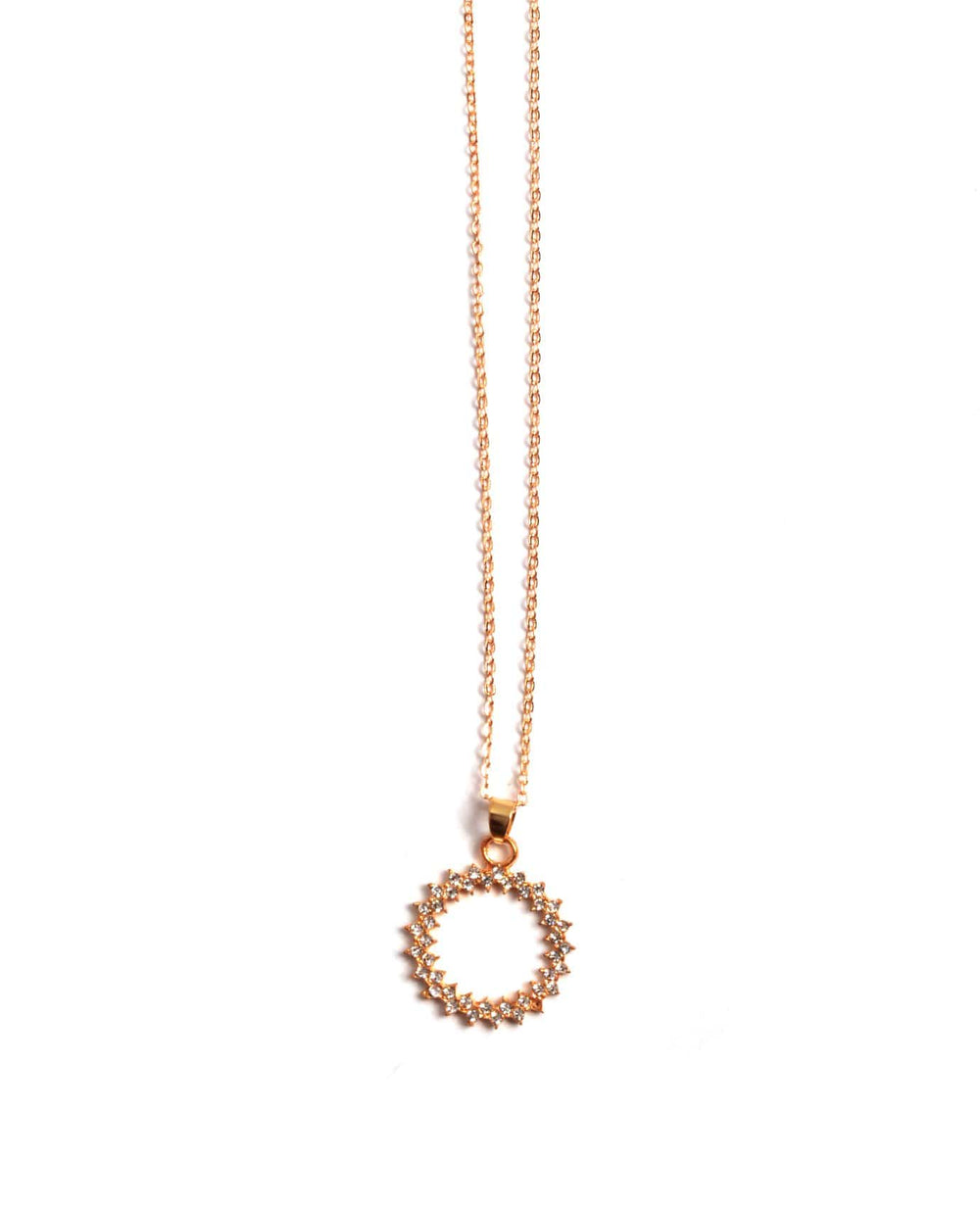 Tiny Elegant Circle Necklace