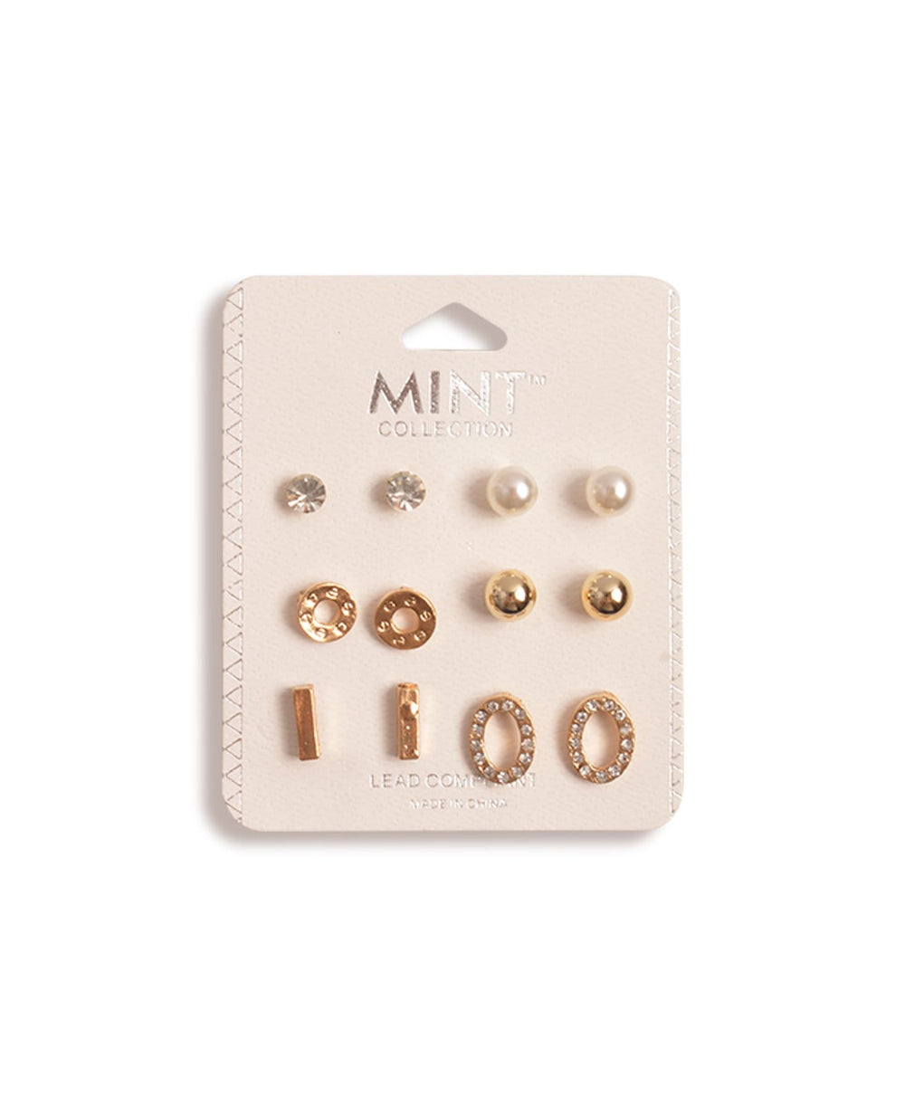 Circle Shape Earrings Set