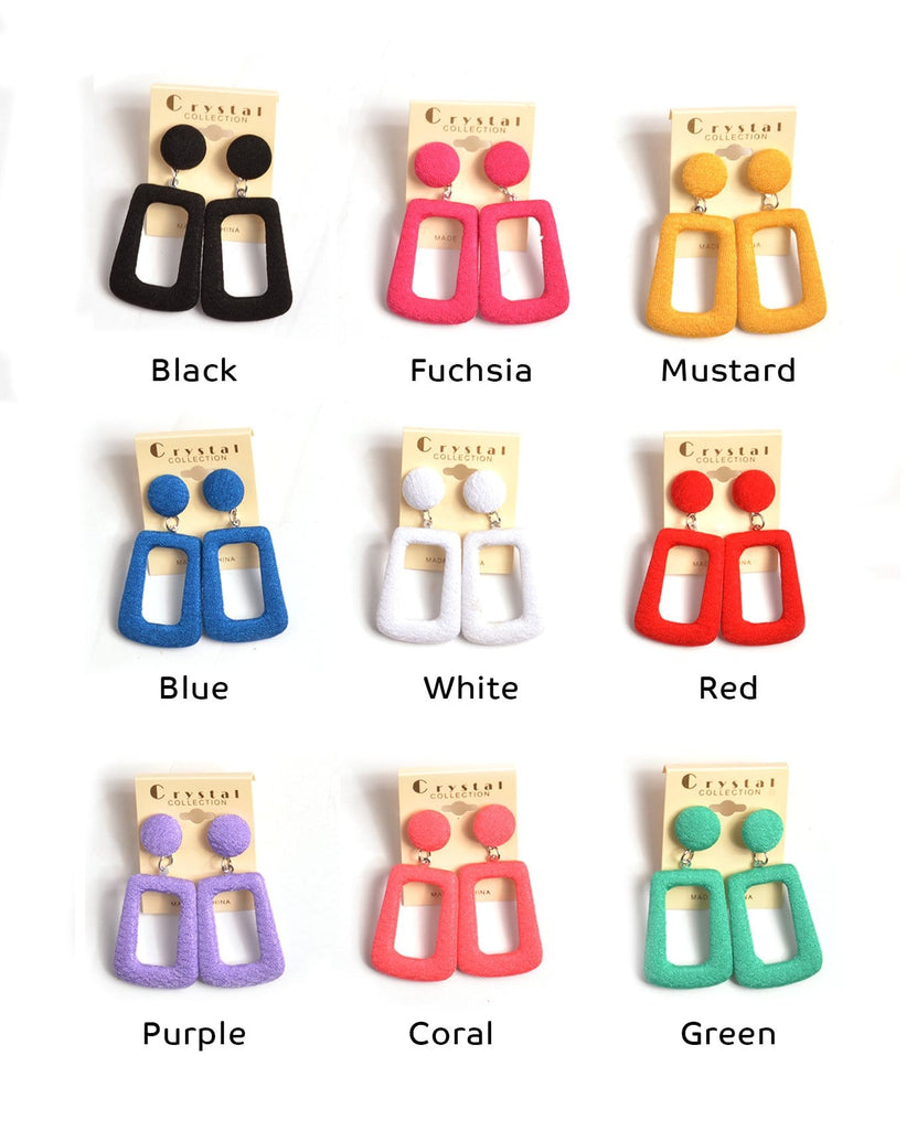 Fashion Hollow Square Earrings