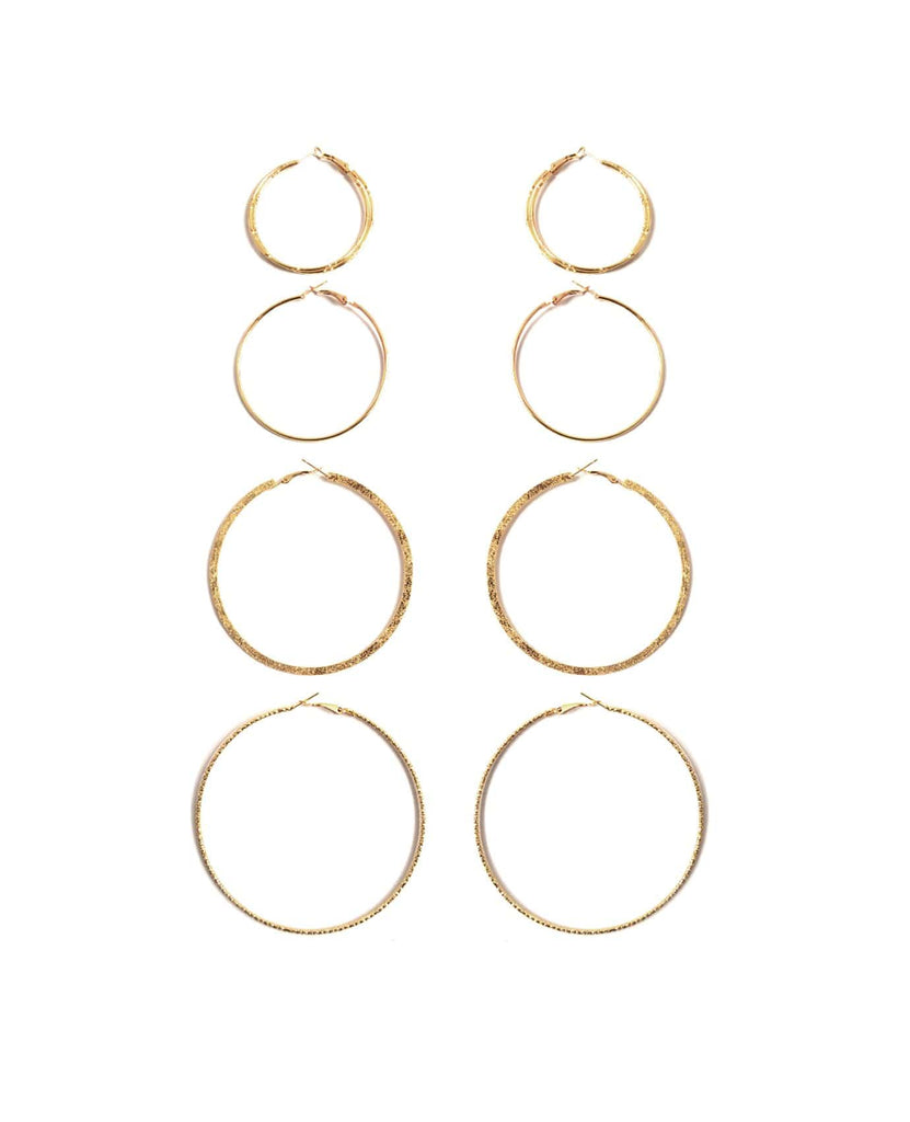 For The Golden Girl Hoop Earring Set