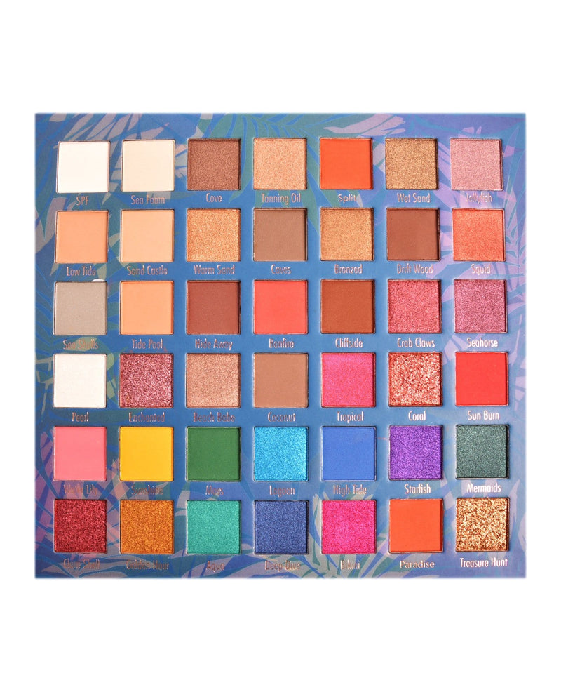 Malibu Glitz Secret Lagoon 42 Color Eyeshadow Palette, COSMETIC