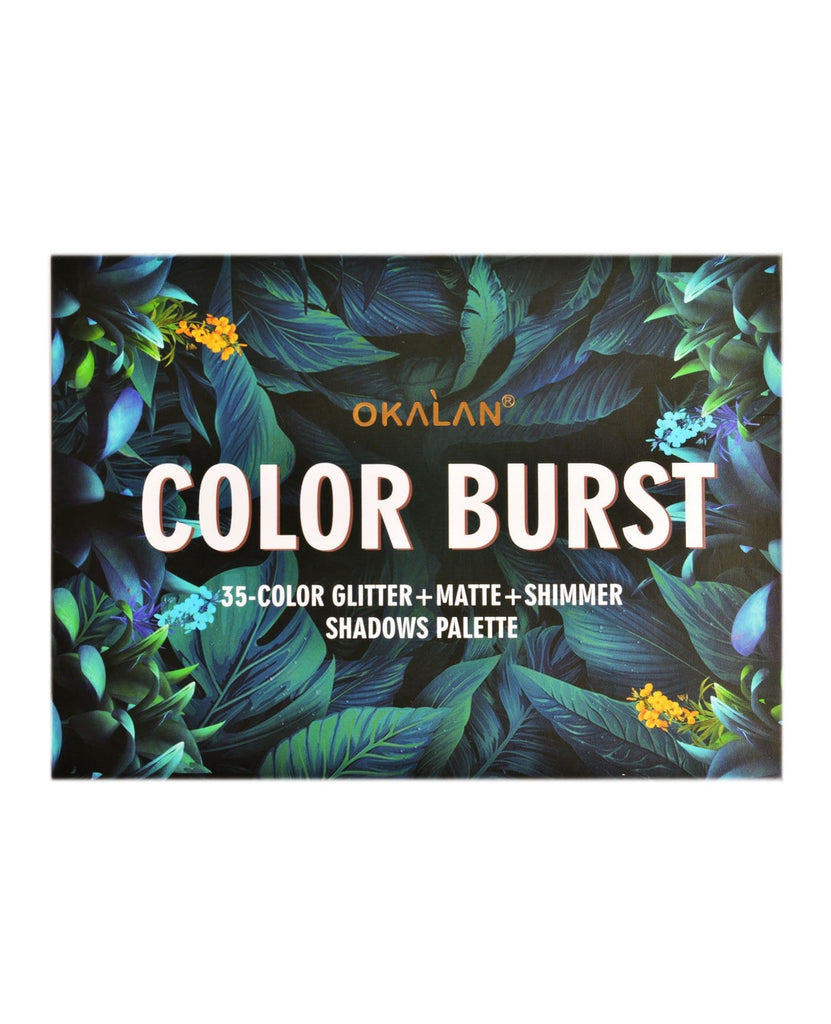 Okalan Color Burst 35-Color Glitter+Matte+Shimmer Shadows Palette, COSMETIC