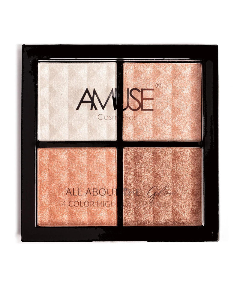 Amuse All About The Glow 4 Color Highlighter Palette, COSMETIC