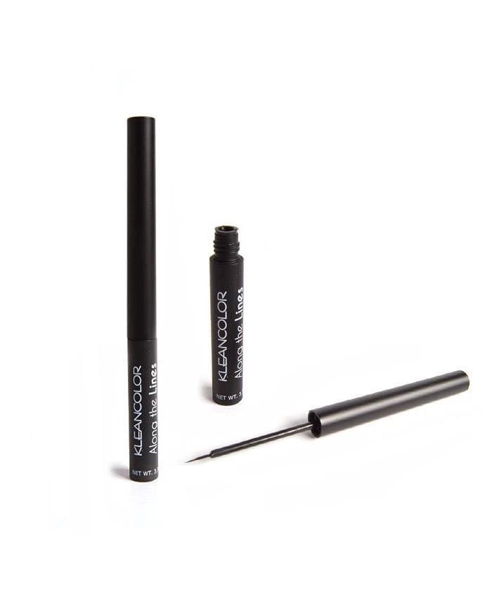 Kleancolor Along The Lines Liquid Eyeliner- Matte Black, COSMETIC