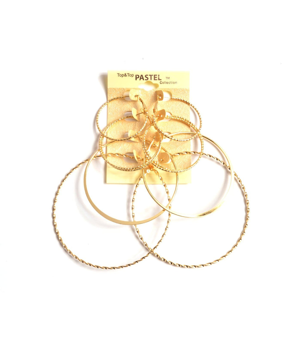 Trendy Hoop Earring Set