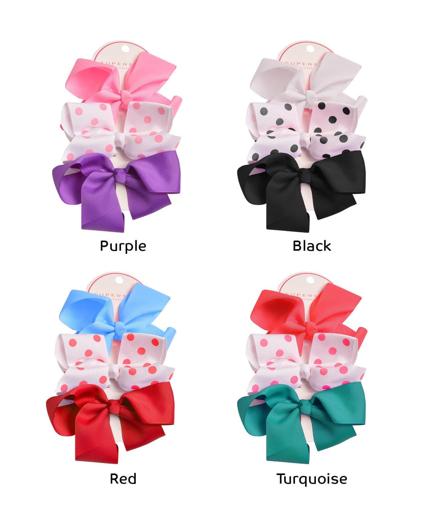 Color Dots Bow Set