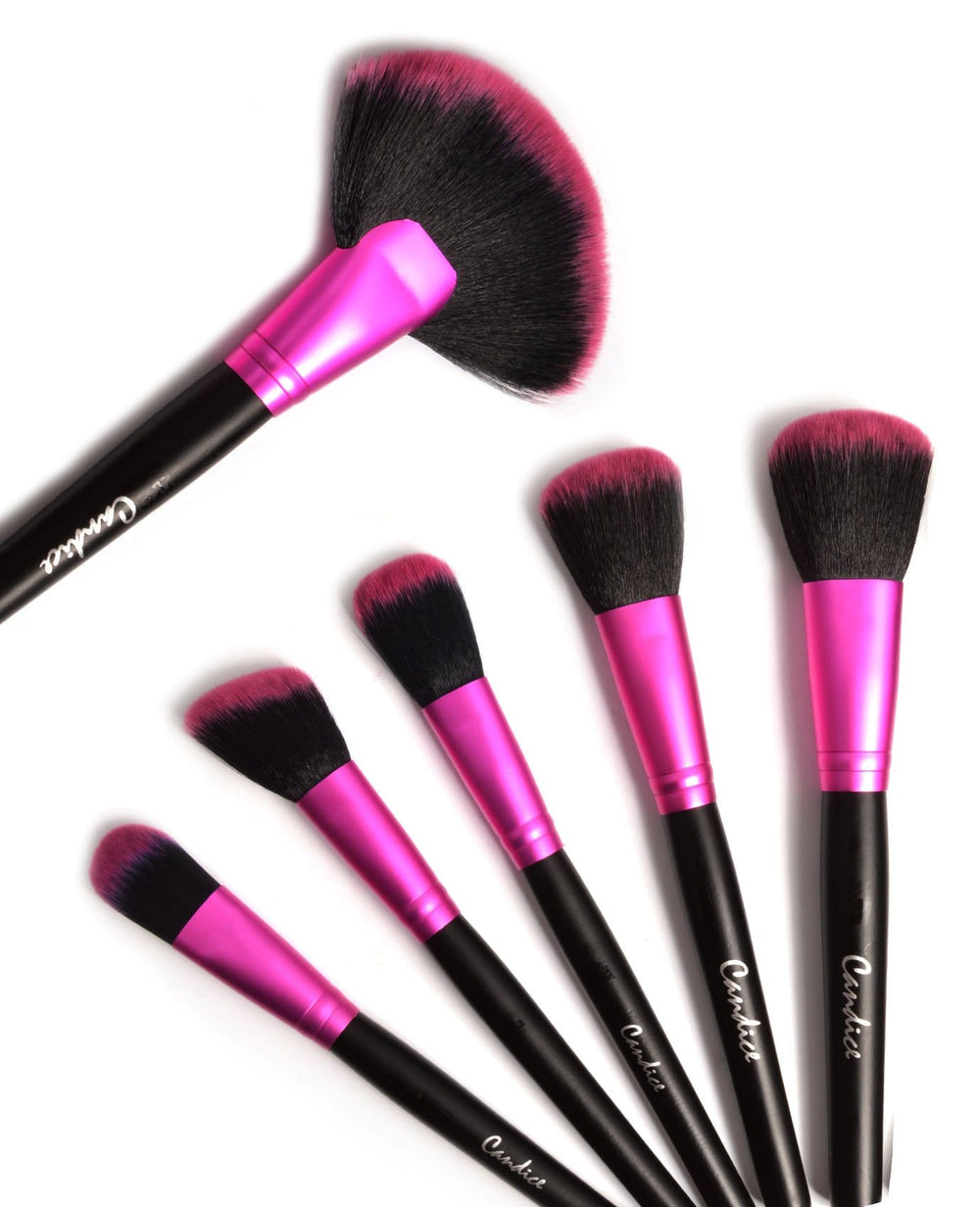 Candice Hot Pink - 24 Pc Brush Set