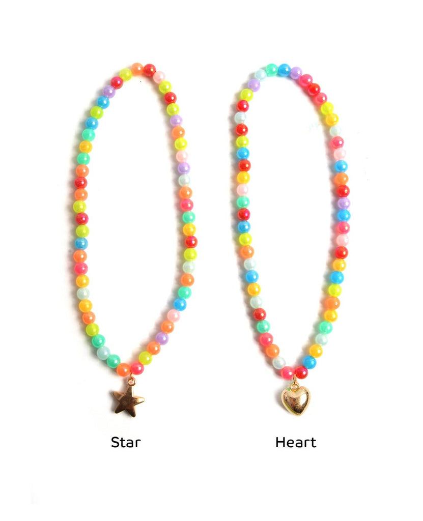 Rainbow Pearls Necklaces