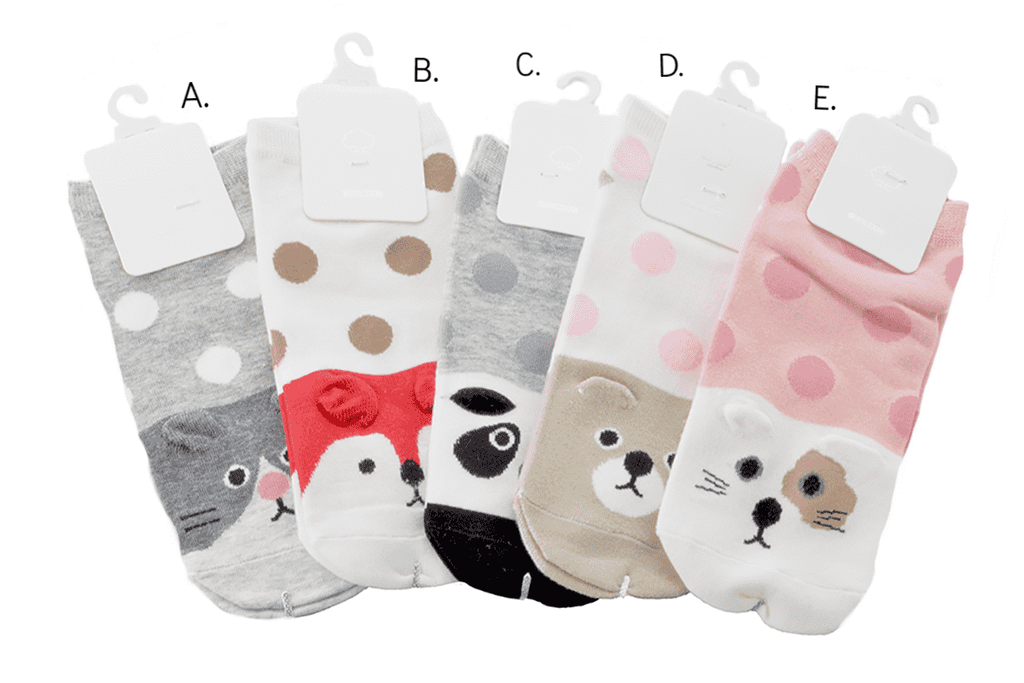Forest Critter Fashion Socks - 5 Styles