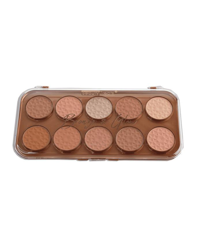 Beauty Treats Bronze & Glow - 10 Shade Contour Palette, COSMETIC