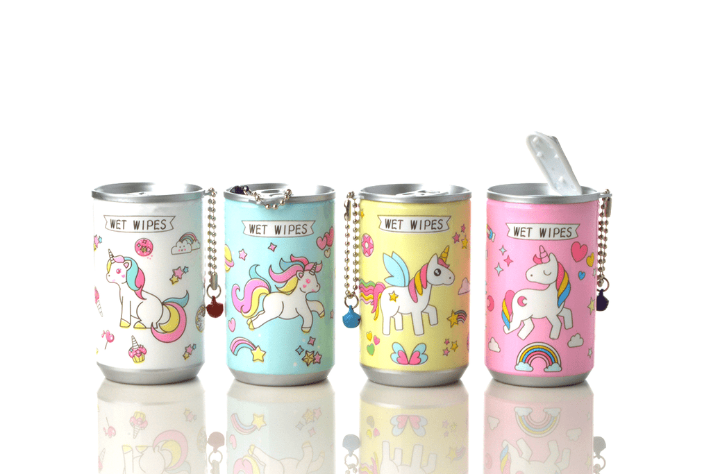 Soda Pop Can Wet Wipes - Unicorn - 4 Styles