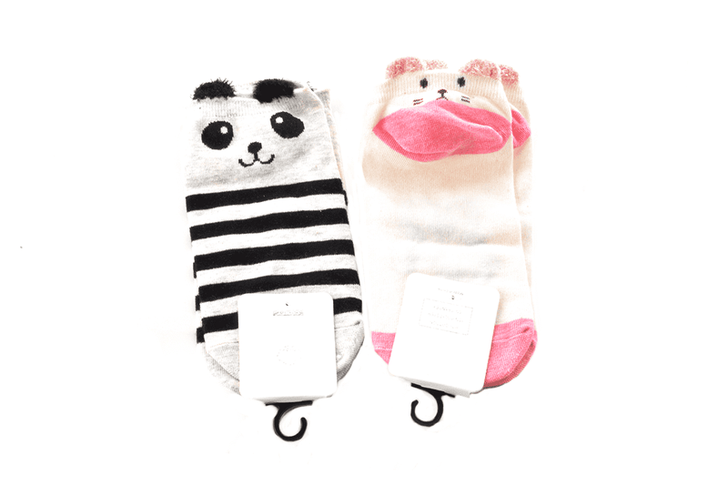 Fuzzy Ear Kid Socks - 5 Styles