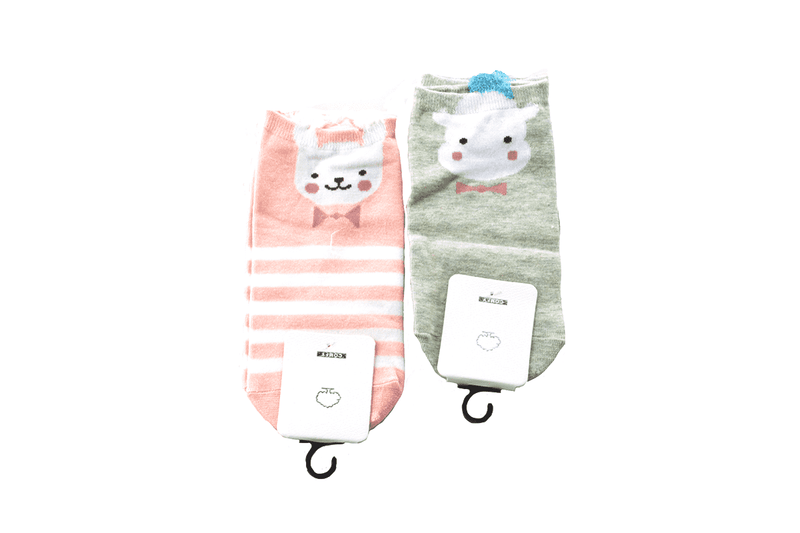 Stripes and Dots Critter Socks - 5 Styles