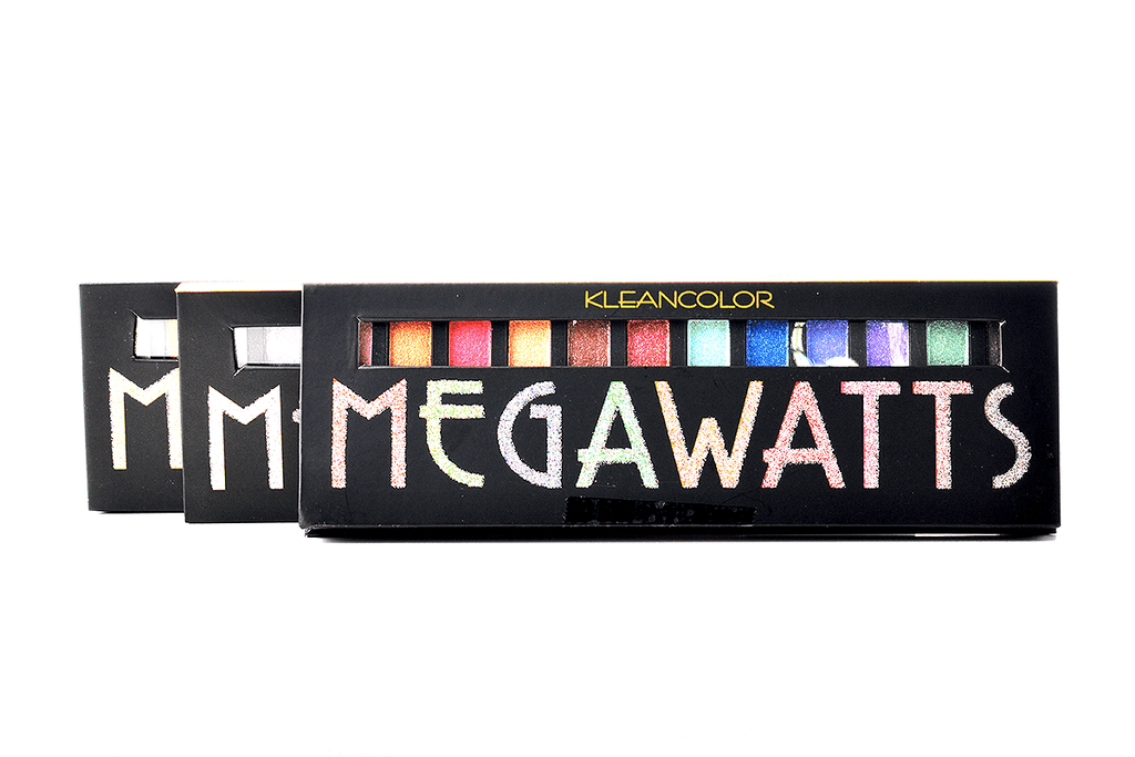KleanColor Megawatts Glitter Eyeshadow Palette - Incandescent, COSMETIC