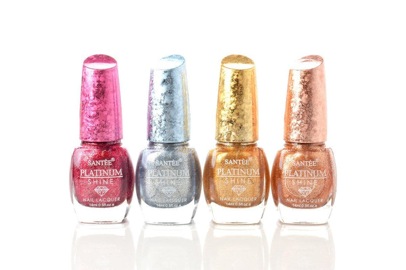 Santee Platinum Shine Nail Polish - 4 Shades
