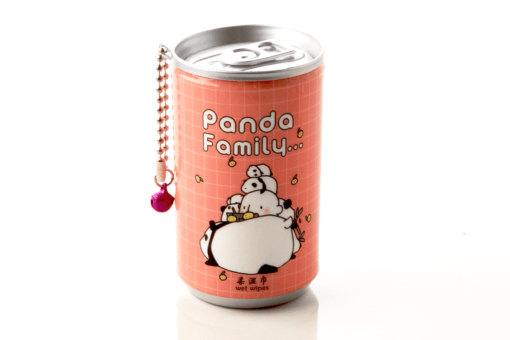 Soda Pop Can Wet Wipes- Pandas