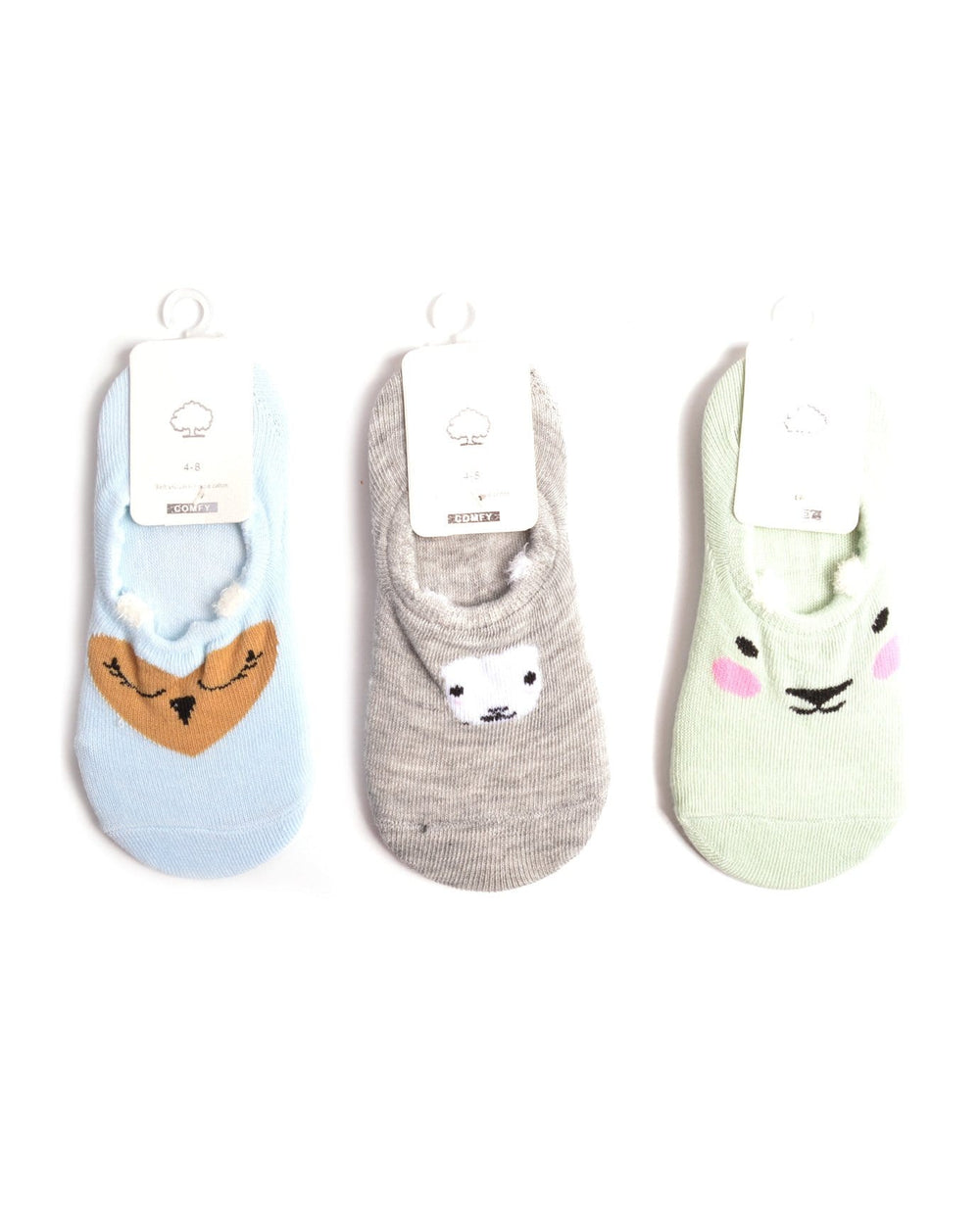Pretty Animals Girl's Low Cut Socks