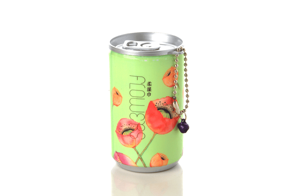 Soda Pop Can Travel Wet Wipes - Flowers
