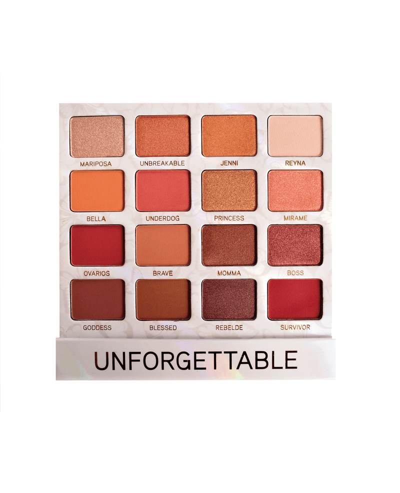 BeBella Cosmetics Jenni Rivera Unforgettable 16 Shade Eyeshadow Palette, COSMETIC