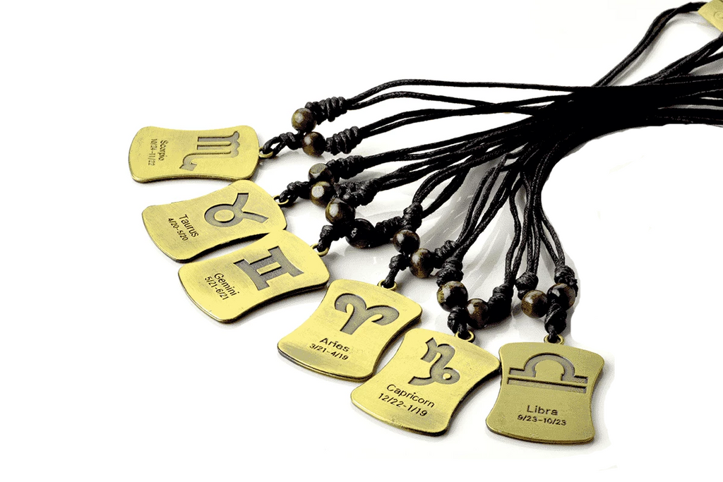 Double Faced Horoscope Necklace - Gold
