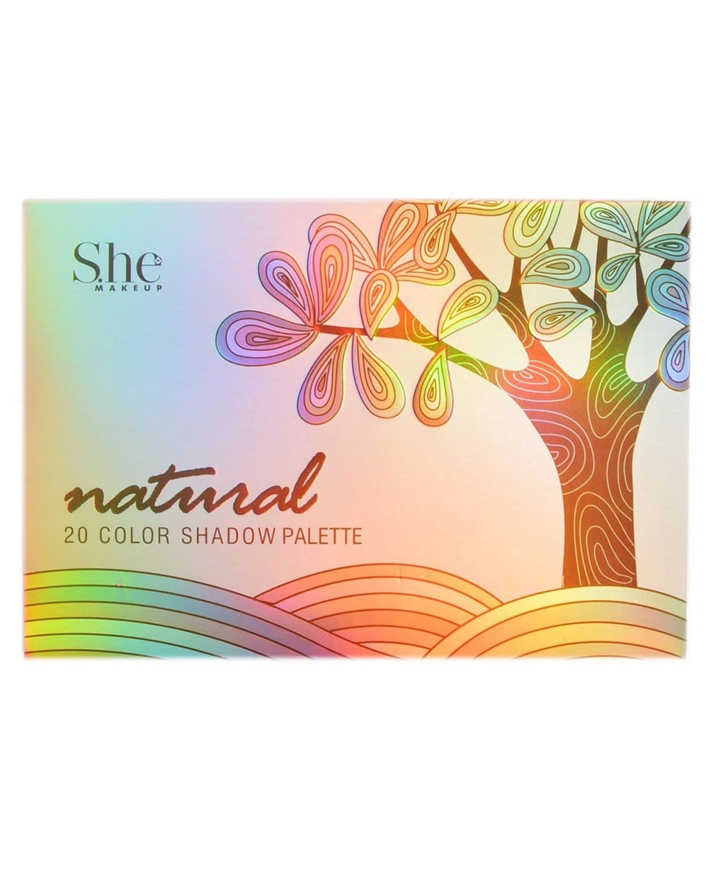 S.he Natural 20 Color Shadow Palette
