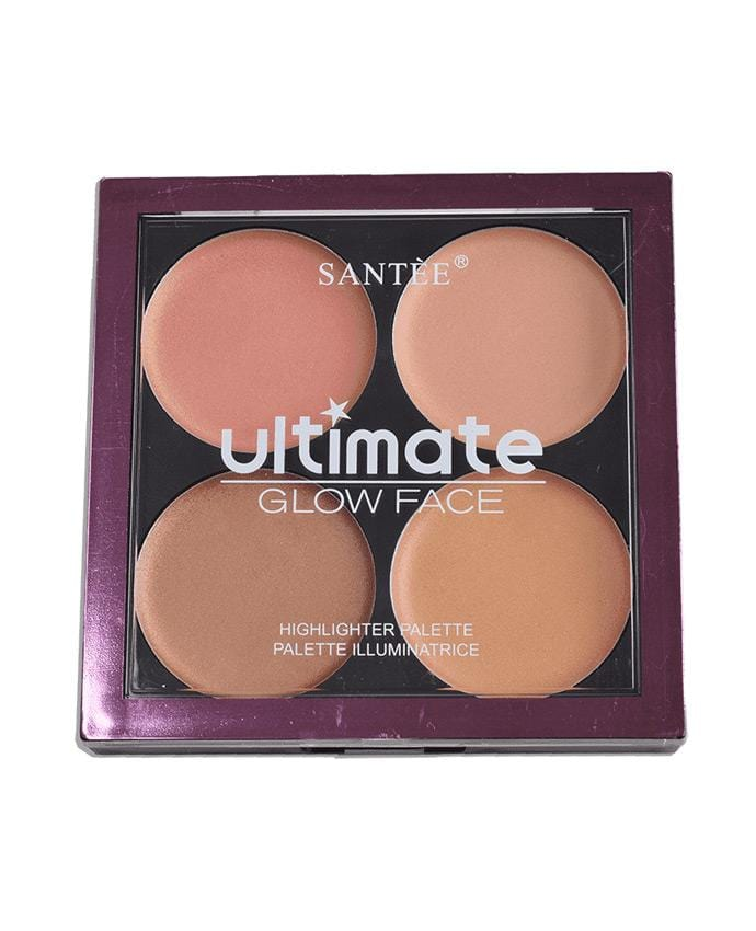 Santee Ultimate Glow Face 463 - 4 Shade Contour Palette, COSMETIC