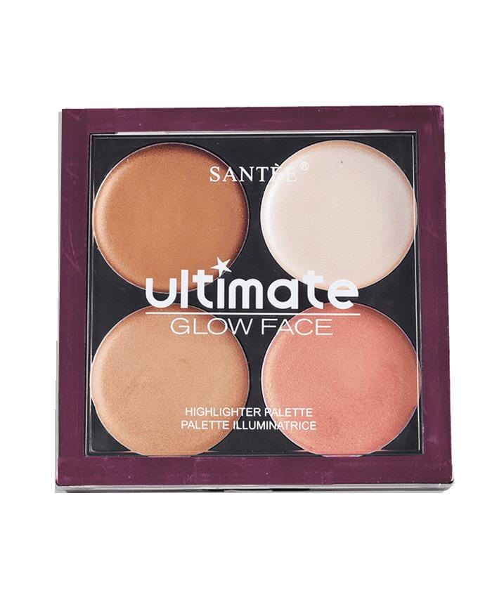 Santee Ultimate Glow Face 462 - 4 Shade Contour Palette, COSMETIC