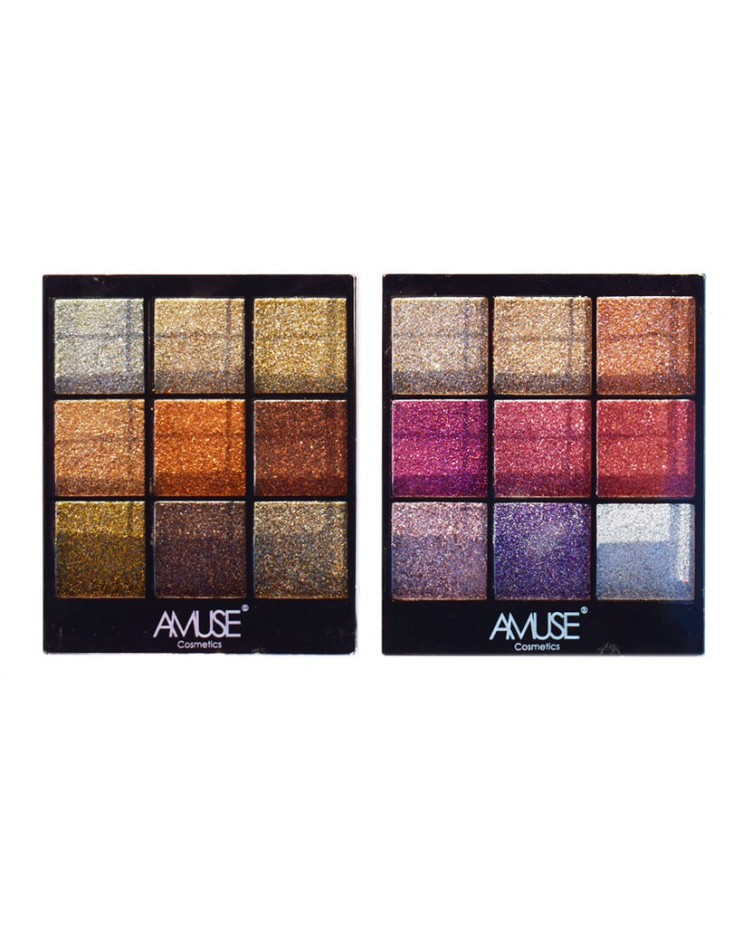 Amuse Pressed Glitter Palette Gift Set