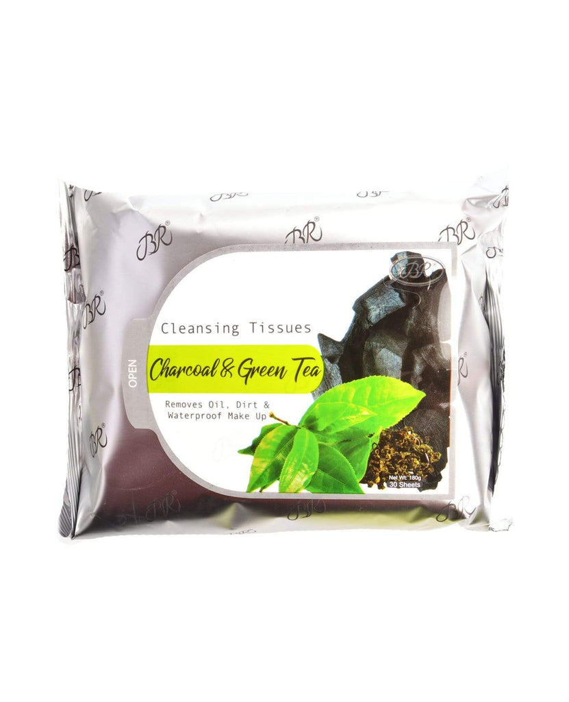 Br Makeup Remover Cleansing Towelettes - Charcoal & Green Tea
